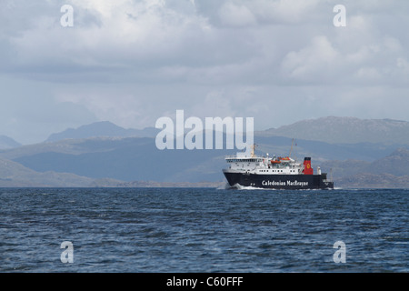 The Caledonian MacBrayne Ferry Lord of the Isles sailing from Oban to the outer Isles - Stock Photo