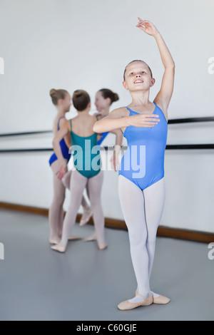 Ballet dancer power in studio - Stock Photo