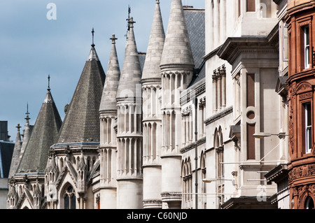 Royal Courts of Justice, The Strand, in the City of Westminster, London - Stock Photo