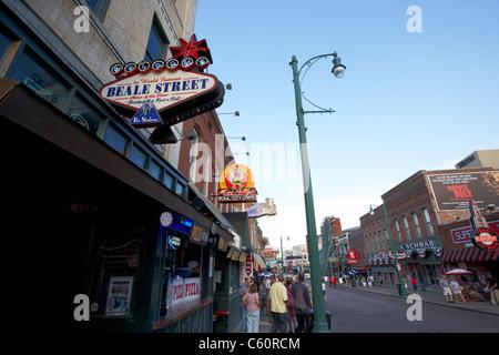 beale street memphis tennessee united states america usa - Stock Photo