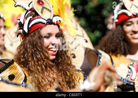 Performer in colourful costume at the 2006 Notting Hill Carnival, London, UK - Stock Photo