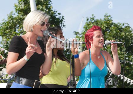 Mayor's Rhythm of London Busk-Off Finale,  The Lorelles - Stock Photo