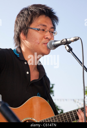 Mayor's Rhythm of London Busk-Off Finale, Chuan Foo - Stock Photo