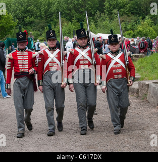 68th Durham Light Infantry at Georgian Fare, North of England Open Air Museum, Beamish, Durham County, England, - Stock Photo
