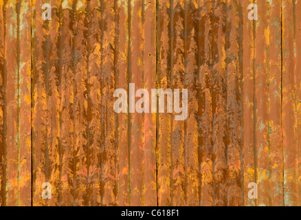 Rusty corrugated metal roof panel - Stock Photo