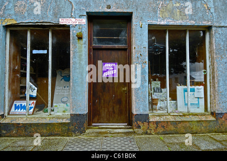 The closed general store in the Welsh village of Mathry, Pembrokeshire, Wales. - Stock Photo