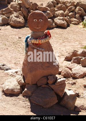Clay figure in village of Machuca, Atacama Desert,Chile - Stock Photo
