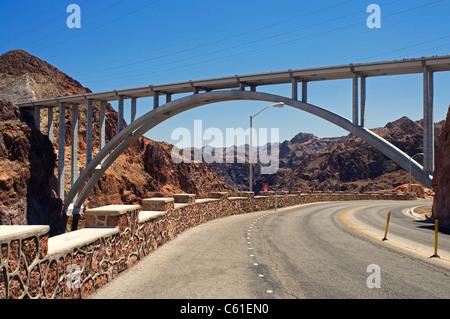 Hoover dam lake mead Boulder city NV - Stock Photo
