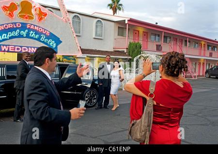 Wedding Chapel Bells Las Vegas NV Nevada - Stock Photo