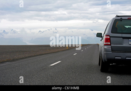 trip around Iceland on the Ring road - Stock Photo