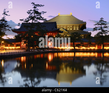 Exterior of Todaiji, the world's largest wooden building and a UNESCO World Heritage Site in Nara, Japan. - Stock Photo