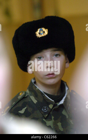 Ukrainian Military Orphanage where majority of the orphans are there because of the Chernobyl disaster - Stock Photo