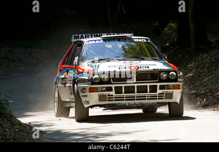 1992 Lancia Delta HF Integrale Evo with driver Justin Law at the 2011 Goodwood Festival of Speed, Sussex, UK. - Stock Photo