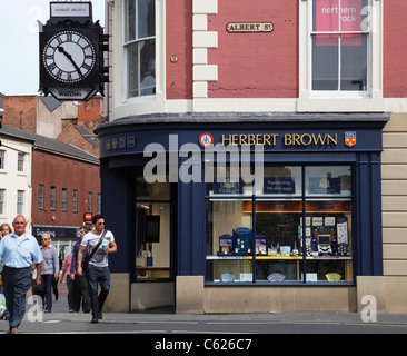 Herbert Brown jewellers in Derby, England, U.K. - Stock Photo