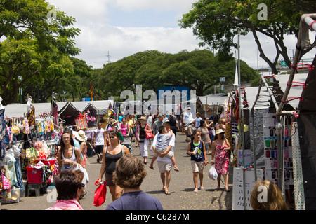 Aloha Stadium swap meet and marketplace - Stock Photo