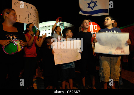 Protest March in Eilat Israel Denouncing the Cost of Living in the Country - Stock Photo