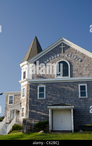 Rhode Island, Block Island (aka New Shoreham). Harbor Church. - Stock Photo