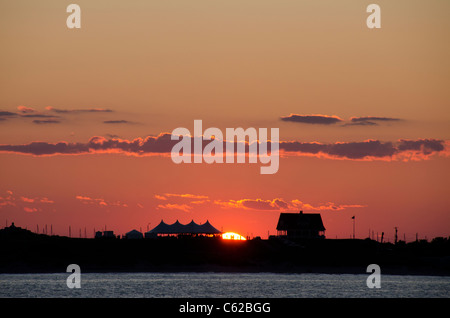Rhode Island, Block Island (aka New Shoreham). Sunset at Block Island. - Stock Photo