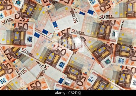 fifty euro notes - Stock Photo