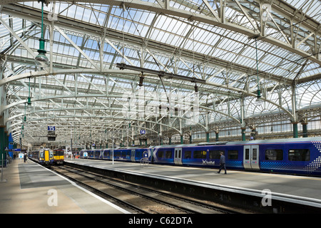 Glasgow Central Station, Glasgow, Scotland, UK - Stock Photo