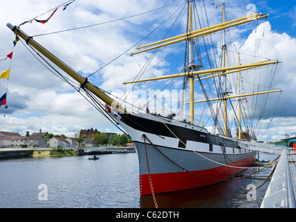 The Tall Ship 'Glenlee' outside, the Riverside Museum (new building of the Glasgow Museum of Transport), Glasgow, - Stock Photo
