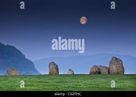 Castlerigg stone circle, - Stock Photo