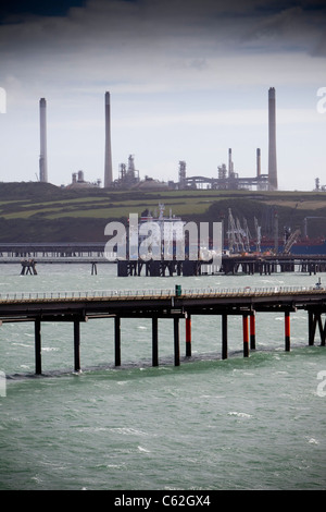 The LNG terminal at Milford Haven, West Wales.