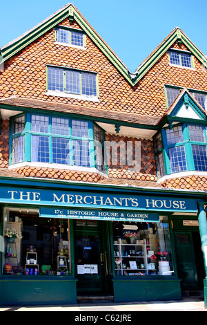 The old Merchants House in Marlborough Town center Wiltshire - Stock Photo