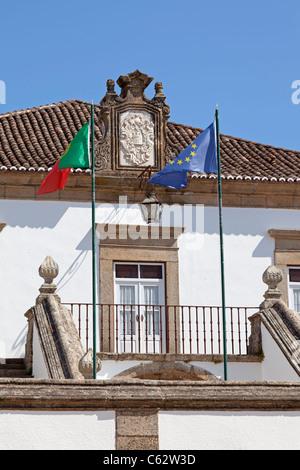 City-Hall building of Castelo de Vide. Alto Alentejo, Portugal - Stock Photo
