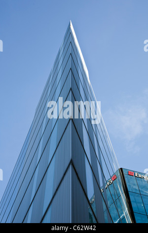 Modern office building sharp angle glass architecture Ernst & Young Headquarters, 1 More London Place - Stock Photo