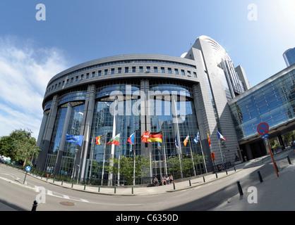 Brussels / Bruxelles, Belgium. European Parliament Building (1993) - Stock Photo