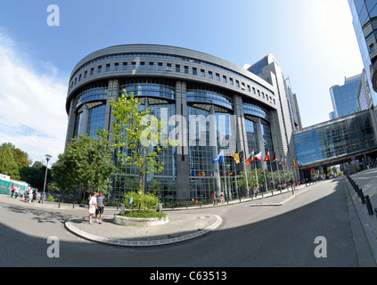 Brussels / Bruxelles, Belgium. European Parliament Building (1993) - Stock Photo