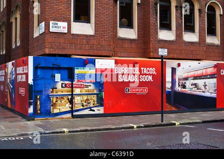 New Mexican Restaurant coming soon, 101-103  Baker Street and York Street Junction Marylebone, London, UK, Europe