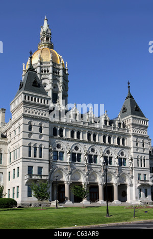 Connecticut State Capitol Building in Hartford - Stock Photo