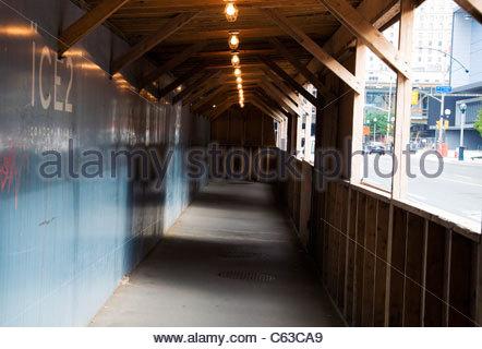 Corridor in a Construction Area - Stock Photo