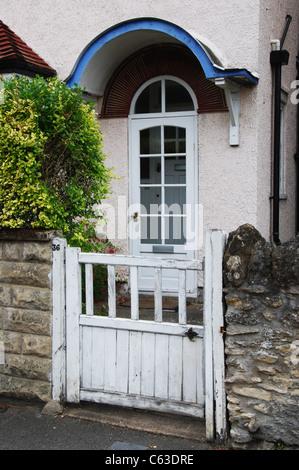 front entrance of domestic house Headington Oxford England United Kingdom - Stock Photo
