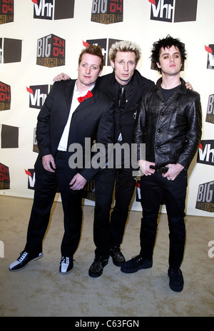 Greenday at the VH1 BIG IN 04 VH1 MUSIC AWARDS, Los Angeles, CA, December 1, 2004. (photo: J. Emilio Flores/Everett - Stock Photo