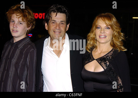 Marg Helgenberger, her husband Alan Rosenberg and their son Hugh at the premiere of IN GOOD COMPANY at Grauman's - Stock Photo