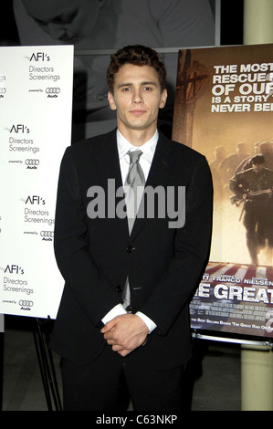 James Franco at arrivals for THE GREAT RAID Premiere, The Arclight Cinema, Los Angeles, CA,  August 04, 2005. Photo - Stock Photo