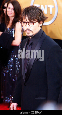 Johnny Depp at arrivals for 11th Annual Screen Actors Guild (SAG) Awards, Shrine Auditorium, Los Angeles, CA, Saturday, - Stock Photo