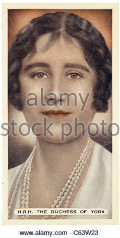 H.R.H. The Duchess of York 1900  to 2002, married to Albert Duke of York who later became King George VI. EDITORIAL - Stock Photo