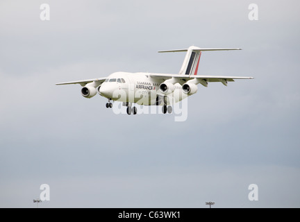 Air france city jet landing at Dublin Airport - Stock Photo
