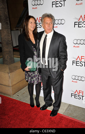Lisa Gottsegen, Dustin Hoffman at arrivals for AFI Fest Centerpiece Gala - Barney's Version Premiere, The Egyptian - Stock Photo