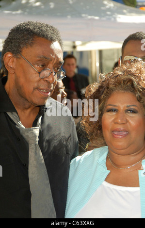 Don Cornelius, Aretha Franklin at arrivals for 10th Annual Soul Train Lady of Soul Awards, Pasadena Civic Auditorium, - Stock Photo
