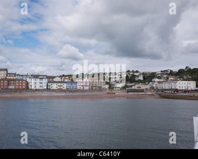 Dawlish Seafront from the sea - Stock Photo
