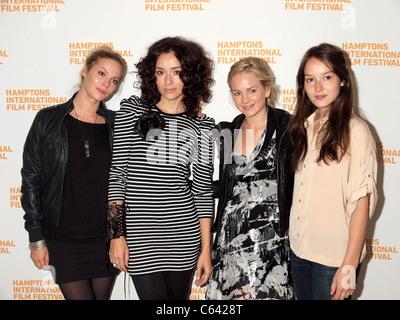 Pihla Viitala,Zrinka Cvitesic, Brittany Robertson, Anais Demoustier (at the HIFF Breakthrough Performers Brunch - Stock Photo