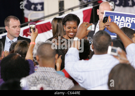 First Lady Michelle Obama in attendance for A Countdown to Victory, rally for Democrats, Canyon Springs High School - Stock Photo