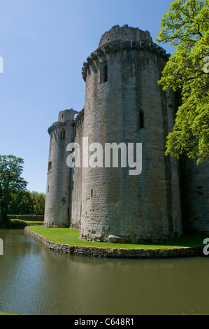 Nunney castle somerset england - Stock Photo