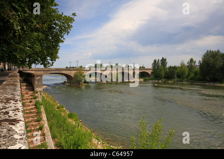 Pont George V also called Pont Royal and Loire River, Orleans, Loiret, France. - Stock Photo