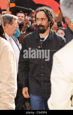 Singer Damian Marley, visits the 'Late Show With David Letterman' at the Ed Sullivan Theater out and about for CELEBRITY - Stock Photo